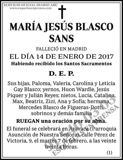 María Jesús Blasco Sans